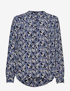 Betty Shirt - bluzki z długimi rękawami - silver lake