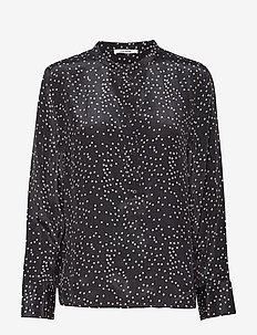Rita Shirt - langærmede bluser - black