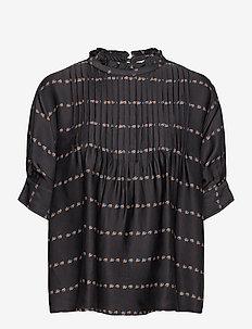Yuki Blouse - blouses med lange mouwen - black