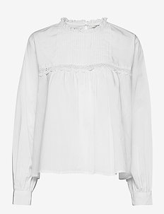 Emily Shirt - long sleeved blouses - white