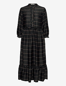 Doanna Dress - midi dresses - black