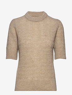 Veneda Pullover - knitted tops & t-shirts - oatmeal