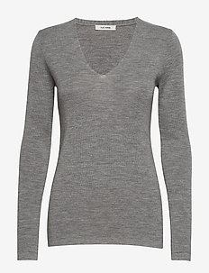 Inge V-neck - GREY MELANGE