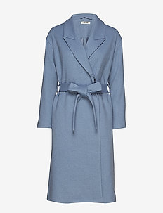 Vera Coat - wollen jassen - dusty blue