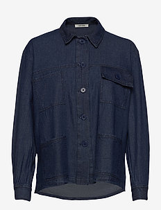 Adeen Shirt - jeansblouses - denim blue