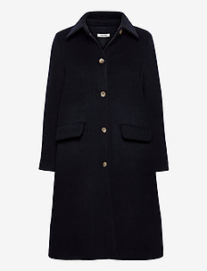 Chiara Coat - wool coats - navy