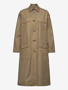 Soho coat - trenchcoats - sand