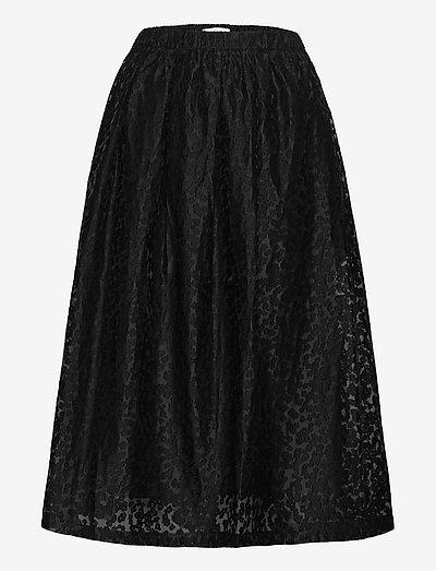 Doma Skirt - midi kjolar - black