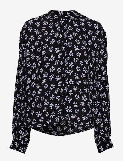 Aline Shirt - langærmede bluser - black