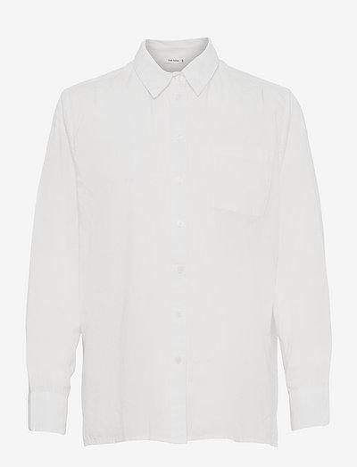 Elin Shirt - langærmede skjorter - white