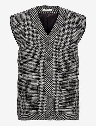 Milo Waistcoat - strikveste - dark grey