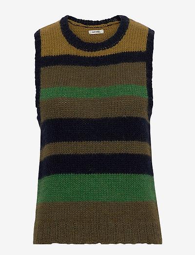 Khloe Waistcoat - strikveste - forrest green