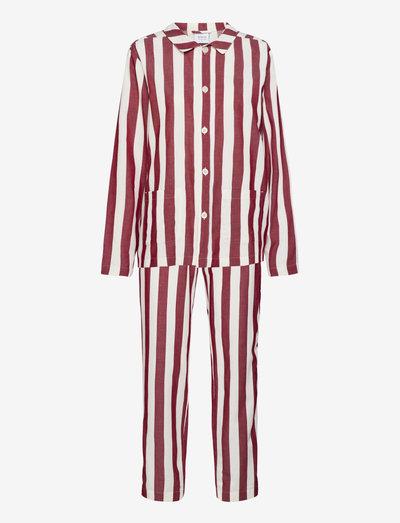 Uno Stripe - pyjamas - red & white