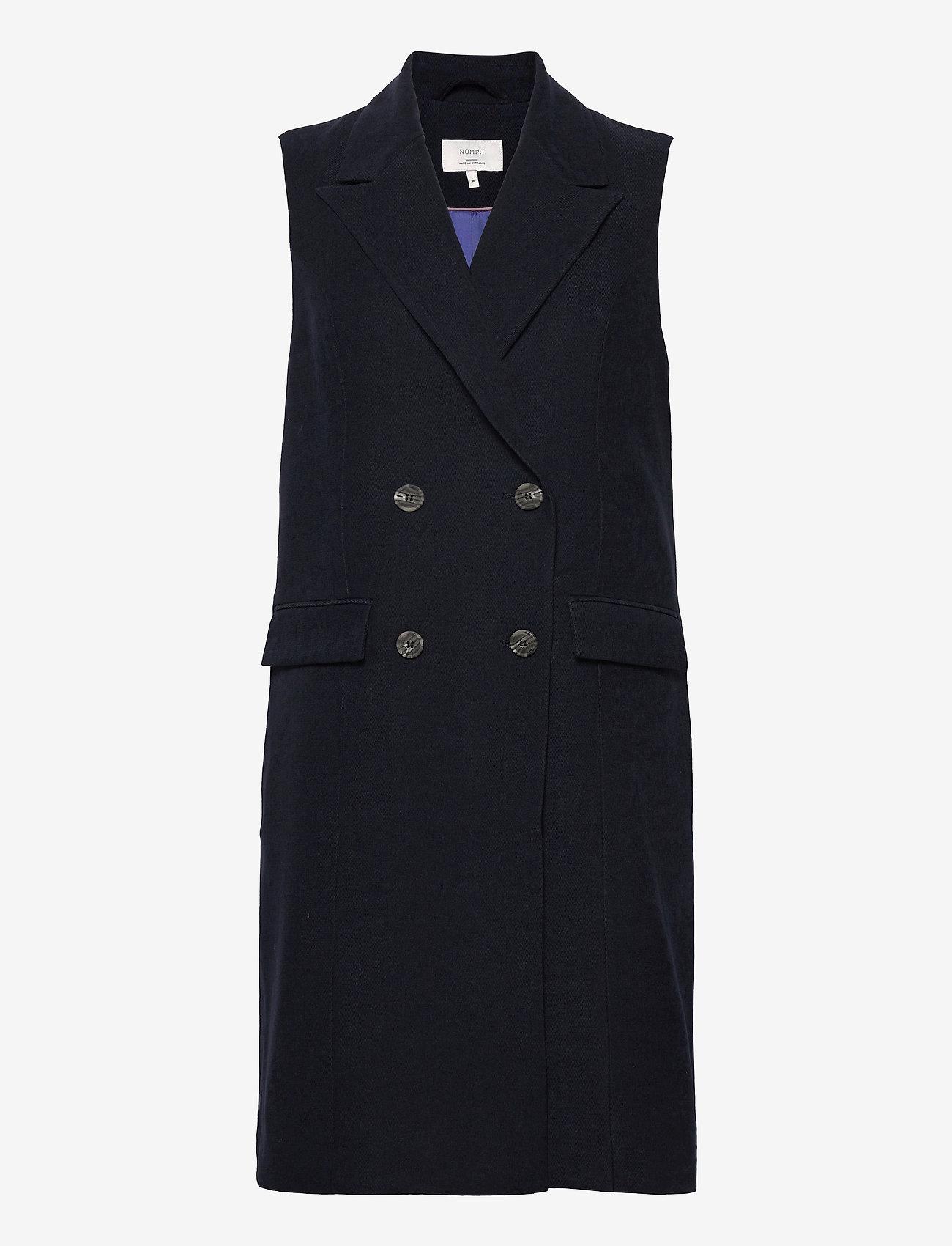 Nümph - NUCHRISTA WAISTCOAT - knitted vests - dark sapphire - 1