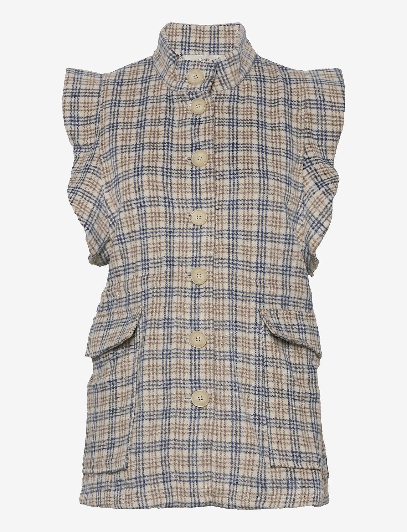 Nümph - NUALMA VEST - knitted vests - wedgewood - 1