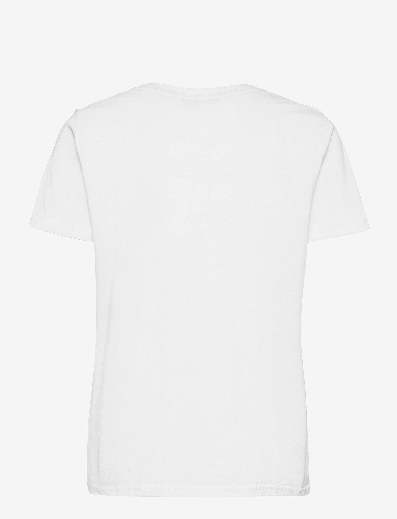 Nümph - NUCATKIN TEE - t-shirts - bright white - 1