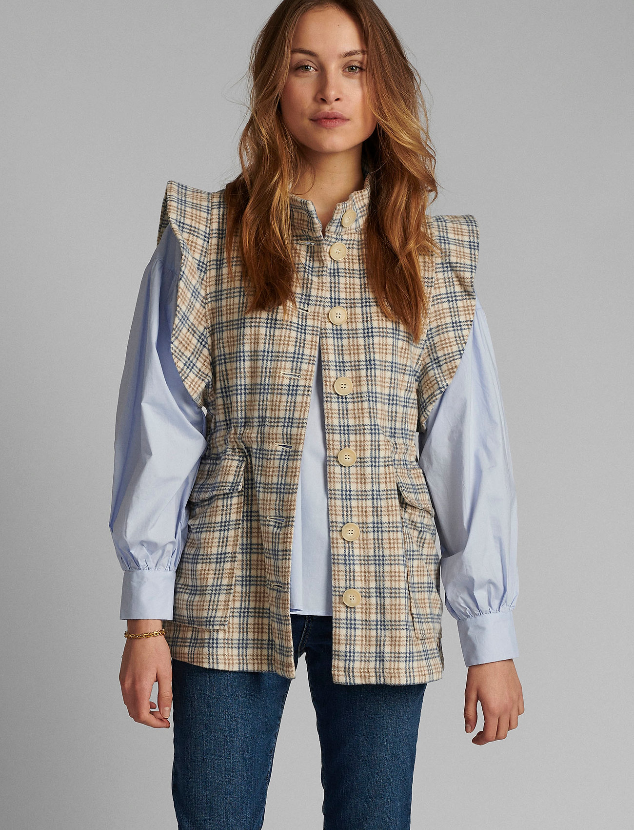 Nümph - NUALMA VEST - knitted vests - wedgewood - 0