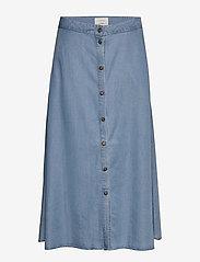 Nümph - NUAHNA SKIRT - jeansowe spódnice - l.b.denim - 0