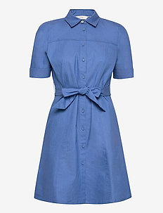 NUCATHLEEN DRESS - zomerjurken - medium blue denim
