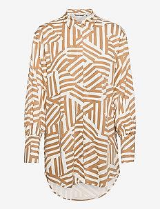 NUCREEK SHIRT - overhemden met lange mouwen - tannin