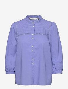 NUCINDY SHIRT - overhemden met lange mouwen - wedgewood