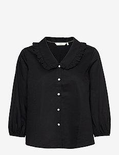 NULACY SHIRT - blouses met lange mouwen - caviar