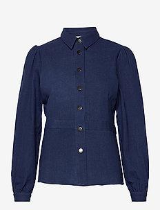 NUBARBARA SHIRT - jeansblouses - dark blue denim