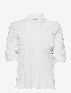NUCALVINA S/S SHIRT - overhemden met korte mouwen - bright white