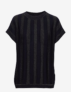 NUACANTHA SS PULLOVER - striped t-shirts - sapphire