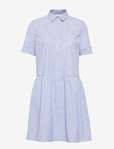 NUALAFIA DRESS - BLUE STR.