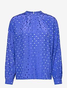 NUBRANDALL BLOUSE - long sleeved blouses - dazzling blue
