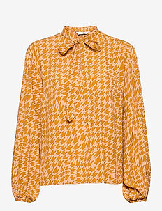 NUBALLOU BLOUSE - long sleeved blouses - buckthorn brown