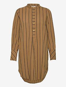 NUBAHIRA LONG SHIRT - tunikat - bronze brown