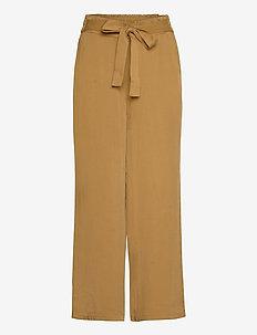 NUBRONTE TOYON PANTS - bukser med brede ben - bronze brown