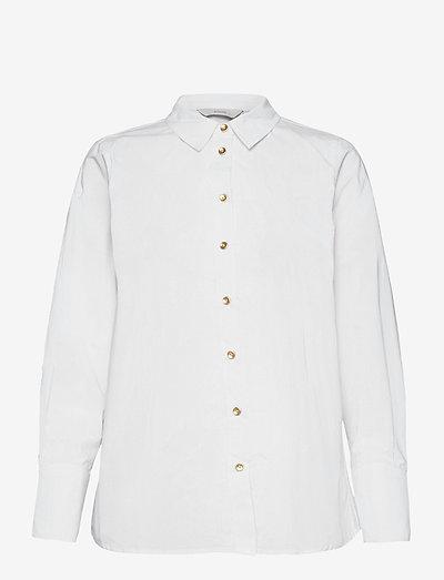 NUBLUE SHIRT - jeansskjortor - b. white