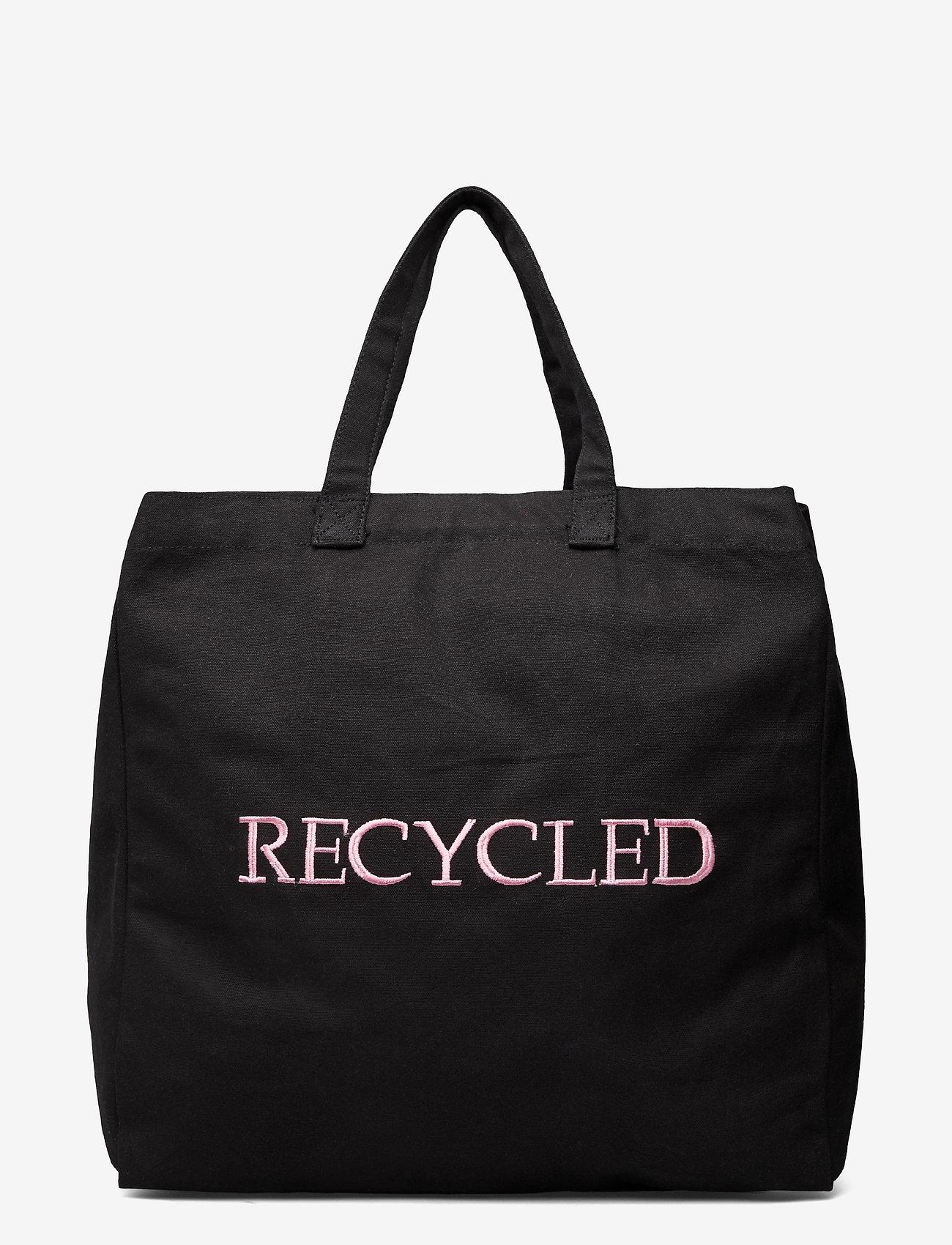 Nunoo - Big Tote Recycled Canvas - tote bags - black - 1
