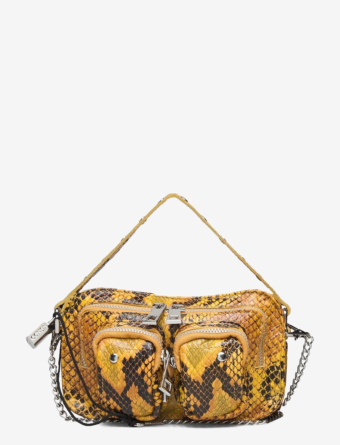 Nunoo - Helena Snake Deluxe - handväskor - yellow - 0