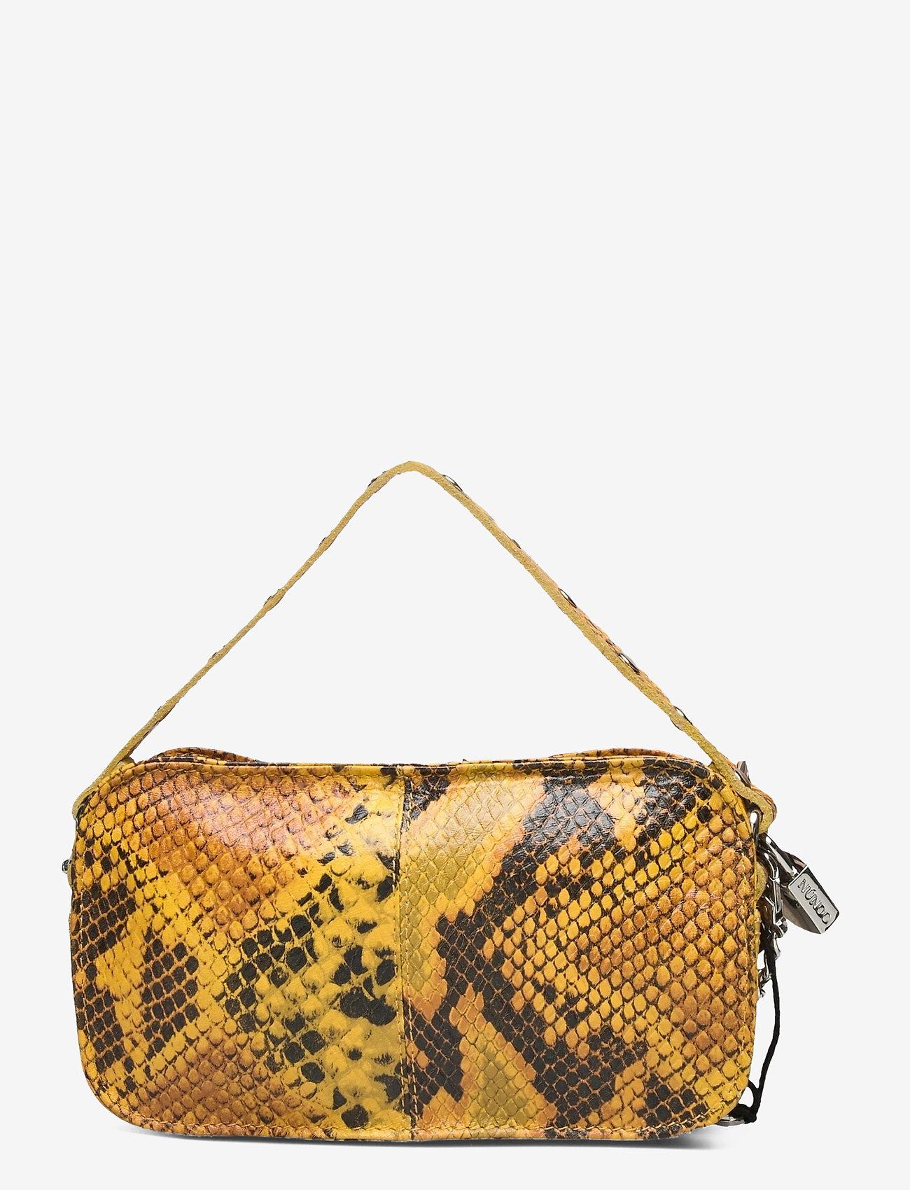 Nunoo - Helena Snake Deluxe - handväskor - yellow - 1