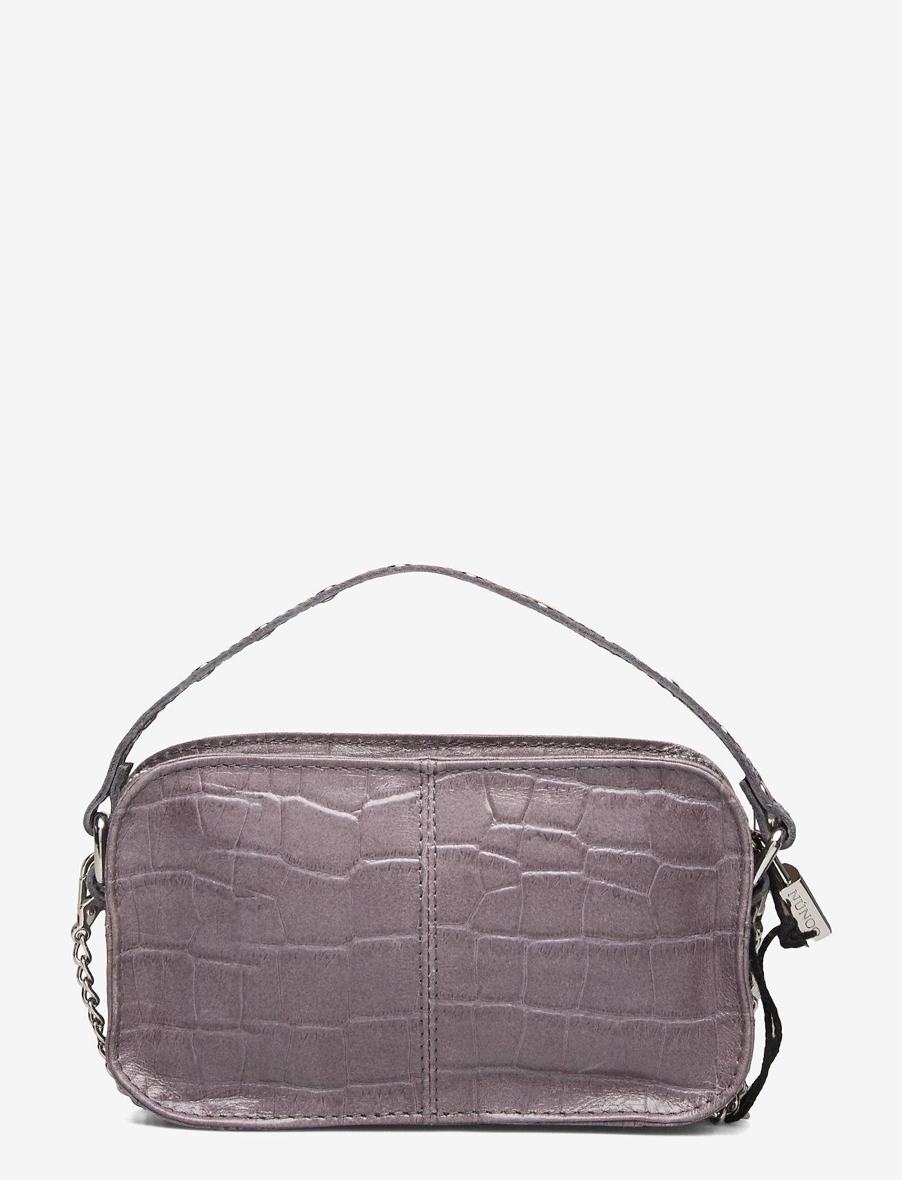 Nunoo - Helena Croco - handväskor - dark grey - 1