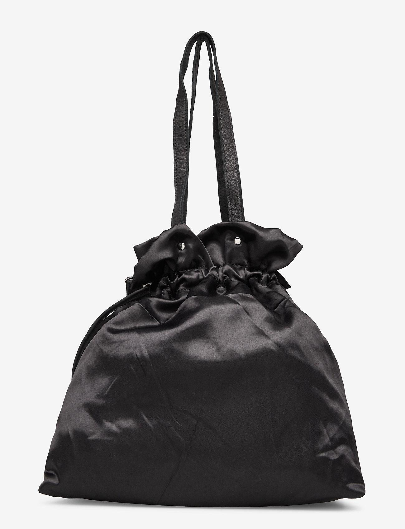 Nunoo - Cindy satin - bucket bags - black - 1