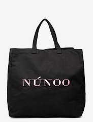 Nunoo - Big Tote Recycled Canvas - tote bags - black - 0