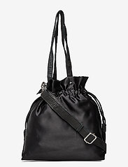 Nunoo - Mini cindy satin - bucket bags - black - 0