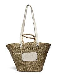 Large Beach Bag - BEIGE