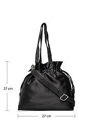Nunoo - Mini cindy satin - bucket bags - black - 4
