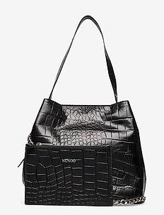 Chiara Croco Deluxe - shoppers - black