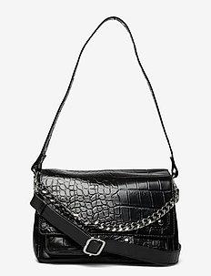Honey Croco Deluxe - handväskor - black