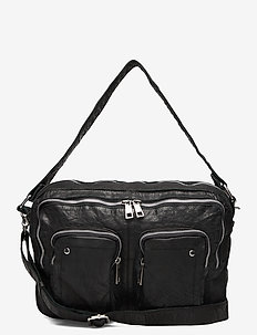Mia washed - handbags - black