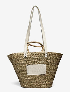 Large Beach Bag - bucket-laukut - beige
