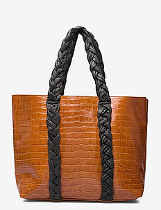 Shopper - shoppers - croco cognac