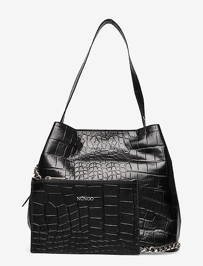Chiara Croco Deluxe - shoppingväskor - black